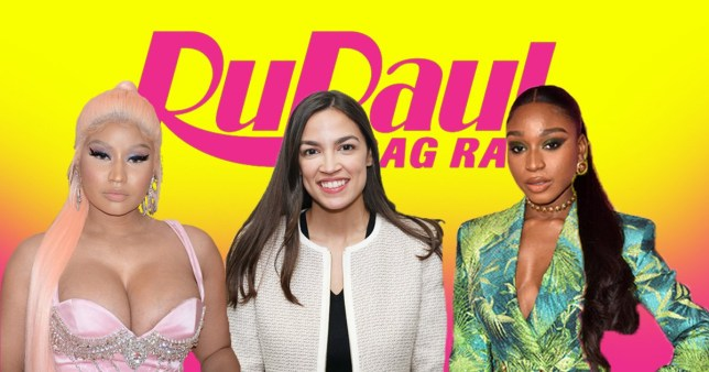 RuPaul's Drag Race season 12 AOC Normani Nicki Minaj