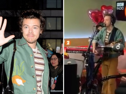 Harry Styles makes everyone's Valentine's Day dreams come true with performance of Adore You