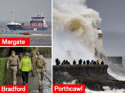 Navy scrambled to save man knocked overboard as Storm Dennis batters UK