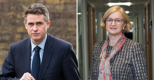 Composite of Gavin Williamson and Ofsted chief Amanda Spielman