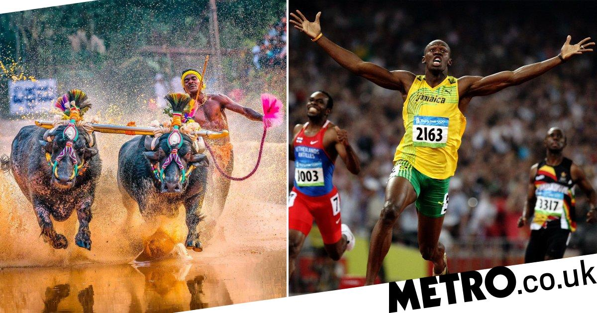Indian buffalo runner claims he has just beaten Usain Bolt's world record