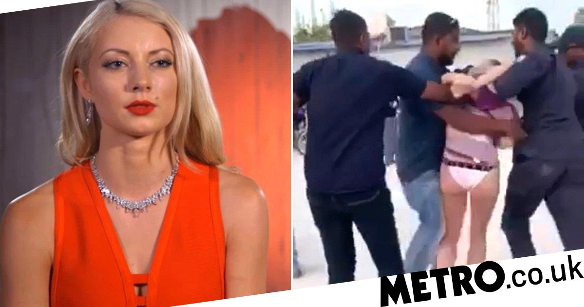 First Dates star 'feared being abducted' as Maldives Police dragged her on beach