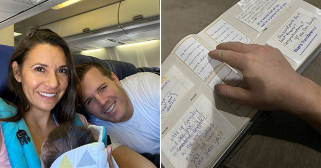 Strangers throw baby shower for couple flying home with adopted daughter