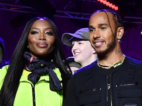 Fashion icon Naomi Campbell hits the runway for Lewis Hamilton and Tommy Hilfiger show at London Fashion Week