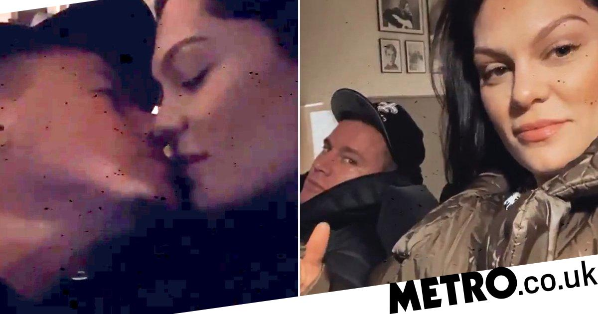 Jessie J and Channing Tatum pucker up for kisses after Sam Smith dance party