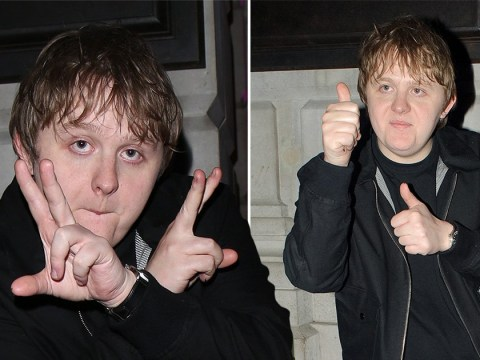 Lewis Capaldi is all of us as he celebrates double win at the Brits with some questionable posing