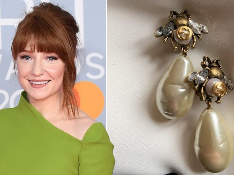 The Masked Singer's Nicola Roberts stays true to Queen Bee persona with quirky earrings at Brit Awards