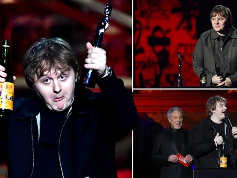Lewis Capaldi comes for those calling him out for getting boozy at the Brit Awards