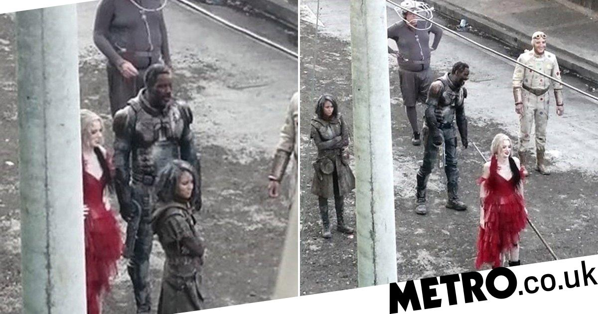 Idris Elba is seen in full costume for first time during Suicide Squad 2 filming