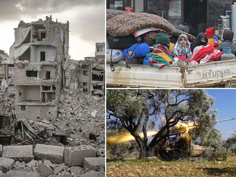 Urgent plea for war to end as 1,000,000 people are put in 'grave danger' in Syria