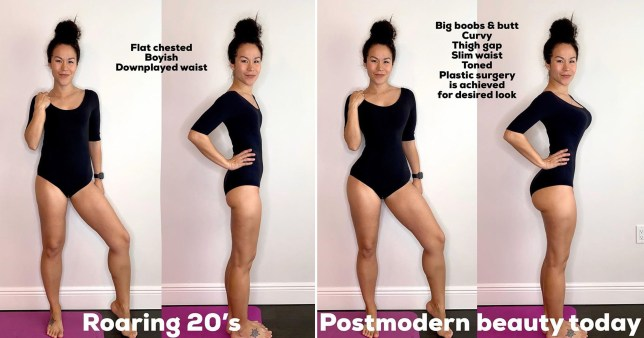 fitness star shows how body image has changed through decades