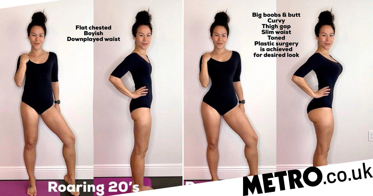 Instagram star photoshops pics to show how body ideals have changed over time