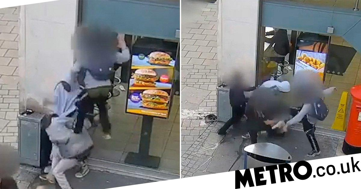 Homeless man assaulted with flying kick outside McDonald's in motiveless attack