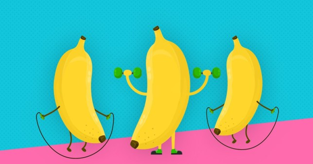 Bananas exercising