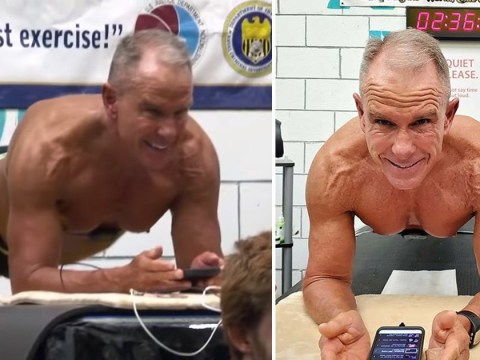 62-year-old holds a plank for more than eight hours – and smashes world record