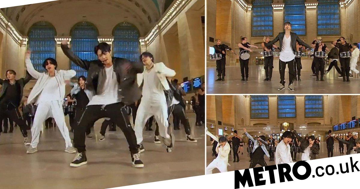 BTS shuts down Grand Central Terminal for energetic performance of new song ON