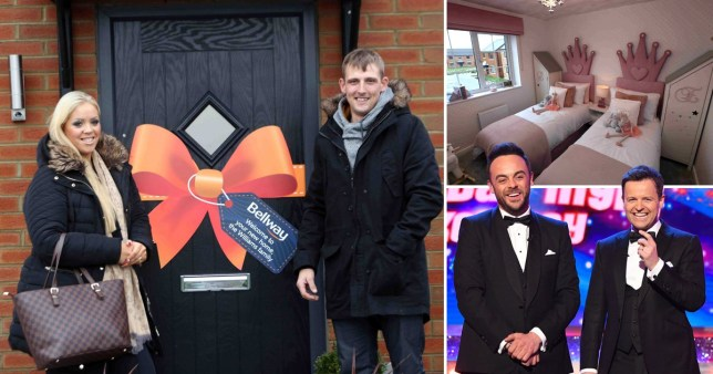 Caption: Couple given free house gifted by Ant and Dec on Saturday takeaway Credit: Rex/ncjMedia