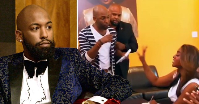 Caption: Love Is Blind star Carlton Morton once got into HUGE fight on camera with Kenya Moore on RHOA Picture: bravo METROGRAB