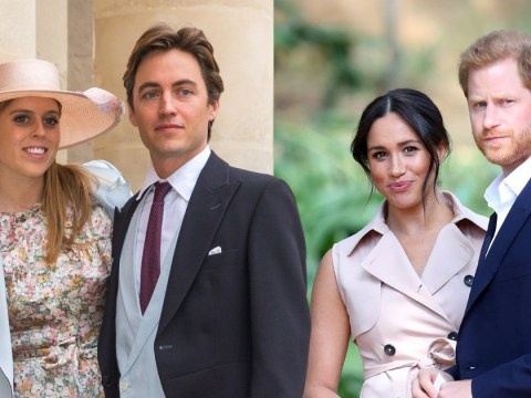 Harry and Meghan 'could snub' Princess Beatrice's wedding as royal tensions rise