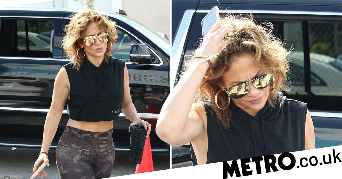 Jennifer Lopez is chopping those Super Bowl critics right out of her hair
