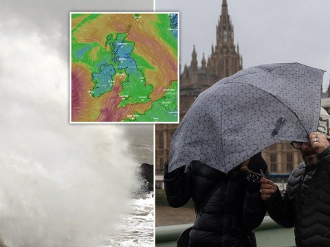 Storm Jorge is sweeping into Britain bringing heavy rain and strong winds