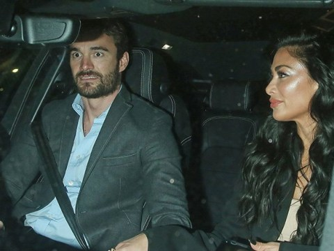Nicole Scherzinger holds hands with boyfriend Thom Evans while he drives her home, after The Pussycat Dolls are hit with technical difficulties