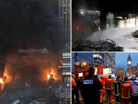 Huge fire breaks out at historic Paris railway station