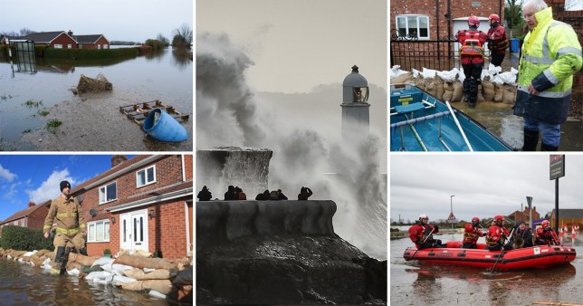 Storm Jorge has brought heavy rain and flooding to parts of the UK still recovering from weeks of wet weather (Picture: PA; Getty)
