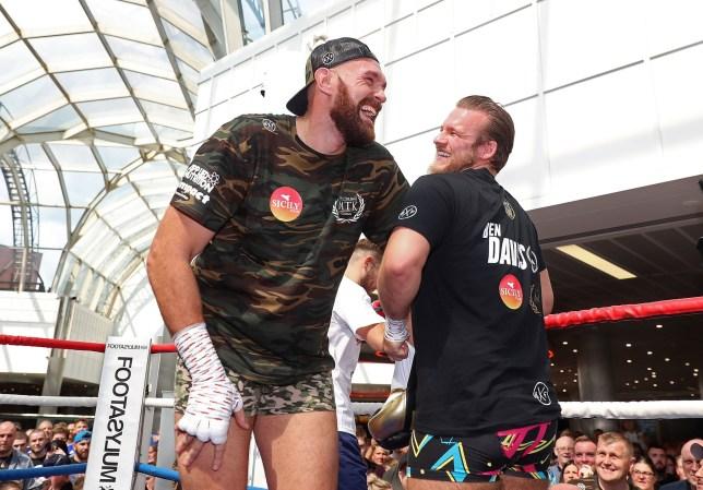 Tyson Fury and trainer Ben Davison.
