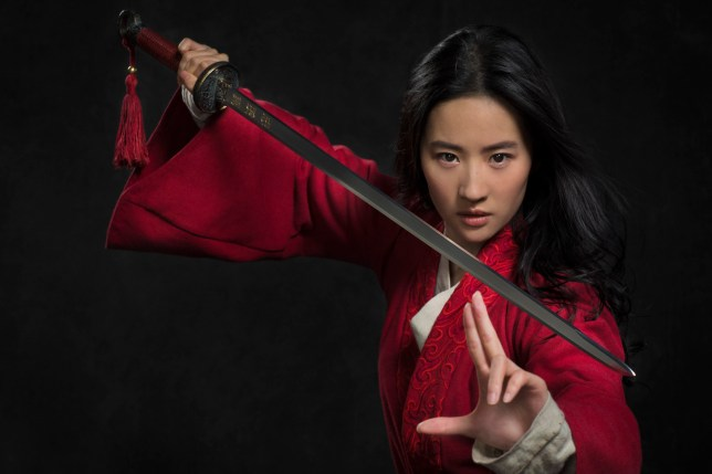 A promo shot from the Mulan film of Liu Yifei