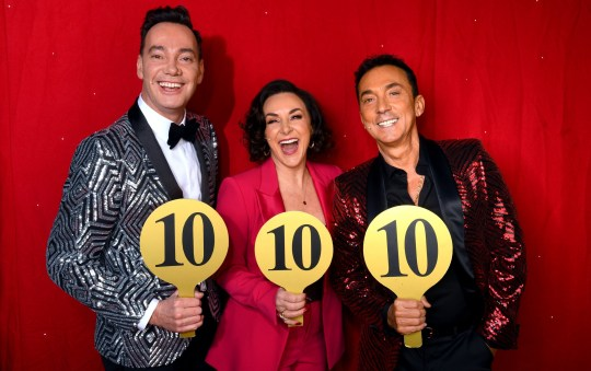 Tbe Strictly Come Dancing judges