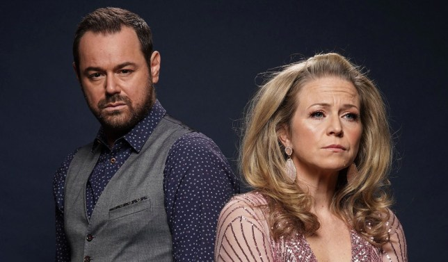EastEnders at 35: The HUGE week WARNING: Embargoed for publication until 00:00:01 on 07/12/2019 - Programme Name: EastEnders - Portraits 2019 - TX: 25/12/2019 - Episode: n/a (No. n/a) - Picture Shows: *STRICTLY NOT FOR PUBLICATION UNTIL 00:01HRS SATURDAY 7TH DECEMBER 2019* Mick Carter (DANNY DYER), Linda Carter (KELLIE BRIGHT) - (C) BBC - Photographer: Kieron McCarron