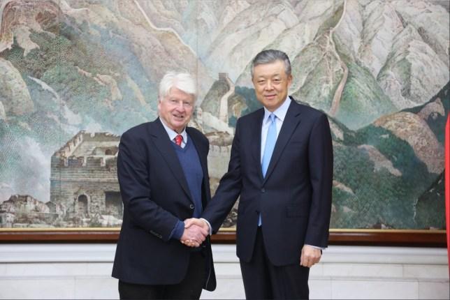 Stanley johnson and Liu xiaoming Coronavirus China Chinese