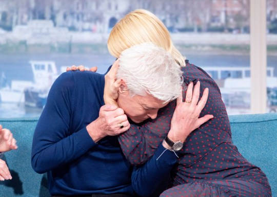 Editorial use only Mandatory Credit: Photo by S Meddle/ITV/REX (10550528p) Phillip Schofield and Holly Willoughby 'This Morning' TV show, London, UK - 07 Feb 2020