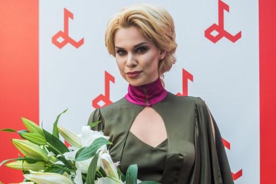 Samanta T?na to represent Latvia in Rotterdam for Eurovision. Samanta Tina photoshooting at Laima Rendez Vous Jurmala 2017.