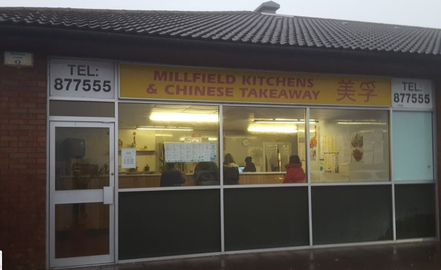 The Millfield Kitchens and Chinese Takeaway in Arbroath, Scotland, temporarily closed for business after its staff returned from a holiday in China - as fear of the coronavirus sweeps the country https://www.mirror.co.uk/news/uk-news/chinese-takeaway-uk-closes-down-21459908?utm_source=facebook.com&utm_medium=social&utm_campaign=mirror_main https://www.google.com/maps/place/Millfield+Kitchen+Ltd/@56.5743959,-2.595181,3a,75y,90t/data=!3m8!1e2!3m6!1sAF1QipM9lTa6TQ8T4KtSsVZn7lntE5VDddjwOkxpLKpE!2e10!3e12!6shttps:%2F%2Flh5.googleusercontent.com%2Fp%2FAF1QipM9lTa6TQ8T4KtSsVZn7lntE5VDddjwOkxpLKpE%3Dw203-h152-k-no!7i3984!8i2988!4m5!3m4!1s0x0:0xef4b65e10a1f736d!8m2!3d56.5746042!4d-2.5958217