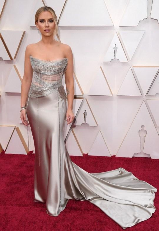 Mandatory Credit: Photo by David Fisher/REX (10544110ij) Scarlett Johansson 92nd Annual Academy Awards, Arrivals, Los Angeles, USA - 09 Feb 2020