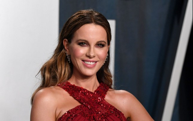 Mandatory Credit: Photo by Anthony Harvey/REX (10548152qh) Kate Beckinsale Vanity Fair Oscar Party, Arrivals, Los Angeles, USA - 09 Feb 2020
