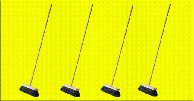 What is the standing broom challenge, and what does it have to do with space?