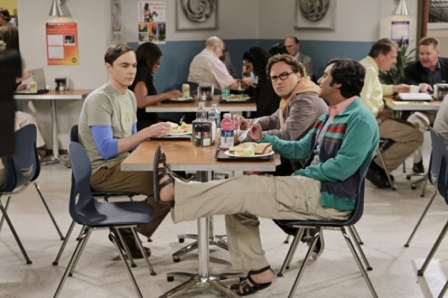 How come Sheldon didn't have a spot in the university canteen? (Picture: CBS)