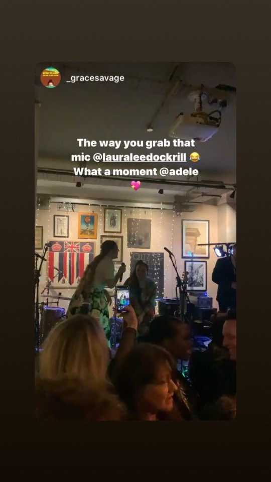 Adele parties at Laura Dockrill's wedding