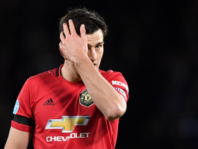 Manchester United captain Harry Maguire against Chelsea
