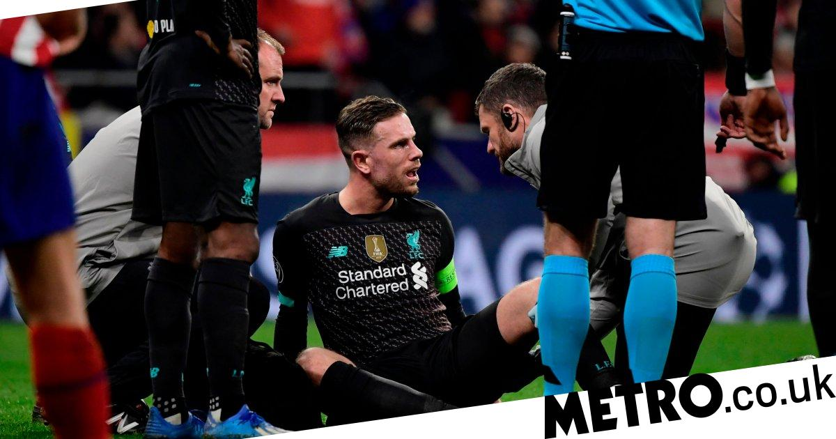 Jurgen Klopp gives update on Jordan Henderson after injury in Atletico Madrid defeat - metro