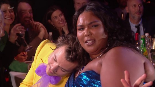 Harry Styles and Lizzo love-in at BRIT Awards