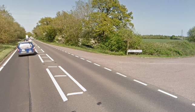 Two men and one woman killed in head on crash between car and lorry A43 near Sywell Range Picture: Google Maps