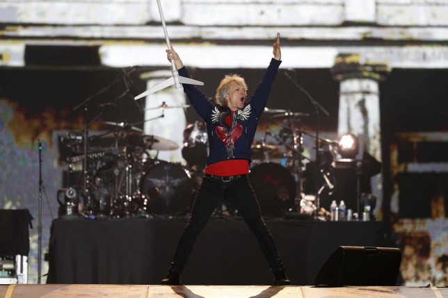 Mandatory Credit: Photo by MARCELO SAYAO/EPA-EFE/REX (10429994o) US singer Bon Jovi performs on stage during Rock in Rio 2019 in Rio de Janeiro, Brazil, 29 September 2019. Rock in Rio 2019 music festival in Brazil, Rio De Janeiro - 29 Sep 2019