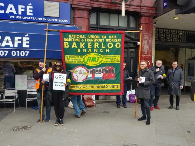 Bakerloo Line London Underground strike (Picture: RMT Bakerloo branch)