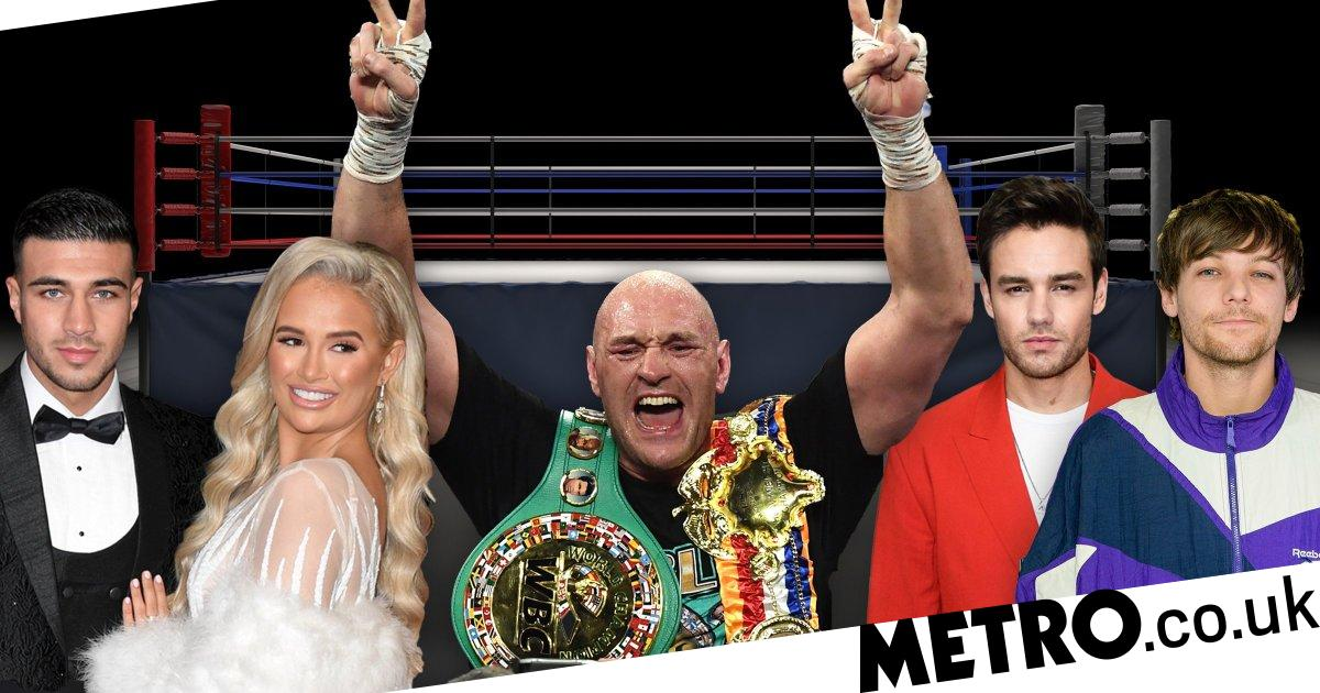 Tommy Fury and Molly-Mae Hague lead celebrations after Tyson Fury win