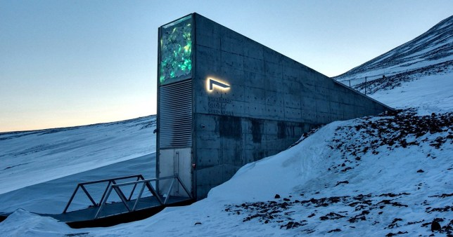 """Undated handout photo of the exterior of the Global Seed Vault in Svalbard, off the northern coast of Norway. Wild plant seeds from meadows at the Prince of Wales' residence at Highgrove are being stored in the """"doomsday vault"""" in the Arctic. PA Photo. Issue date: Tuesday February 25, 2020. The latest deposits at the Global Seed Vault in Svalbard, off the northern coast of Norway, also include the first seeds from the Cherokee Nation in the US, and bring the total number of samples stored there to more than one million. The vault provides a back-up to the network of seed banks around the world which store, grow and replenish thousands of varieties of crops - but which can be threatened by war, accidents and natural disasters. See PA story ENVIRONMENT Crops. Photo credit should read: PA WireNOTE TO EDITORS: This handout photo may only be used in for editorial reporting purposes for the contemporaneous illustration of events, things or the people in the image or facts mentioned in the caption. Reuse of the picture may require further permission from the copyright holder."""