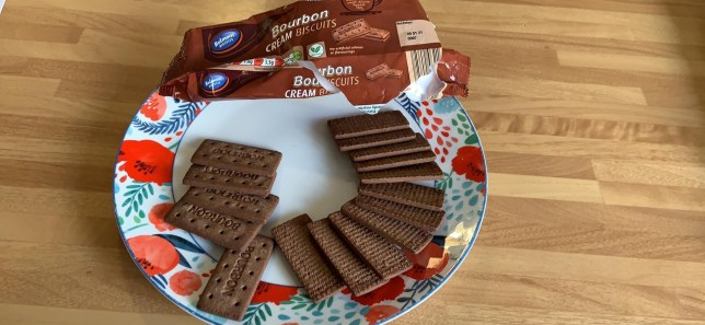 Amanda Fisher's bourbon biscuits which had no cream